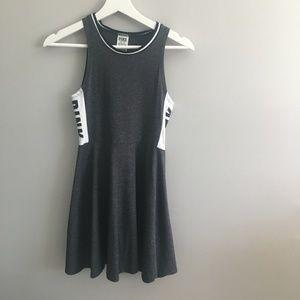 PINK Gray and White Skater Dress #202